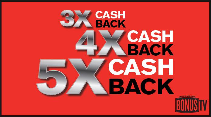 3x 4x 5x Cash Back